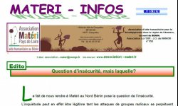 Journal MATERI - INFOS mars 2020